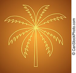 Silhouette of Palm Tree. Vector illustration