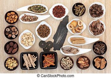 Acupuncture Alternative Medicine - Acupuncture needles and...