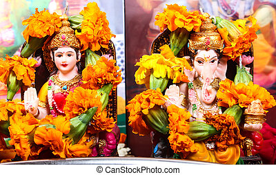 Goddess Lakshmi and Lord Ganesha - goddess lakshmi and lord...