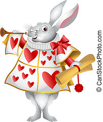 White Rabbit Herald - My cartoon version of the white rabbit...