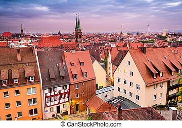 Nuremberg Germany - Nuremberg, Germany old town skyline.