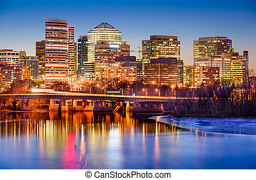 Rosslyn Skyline - Rosslyn, Arlington, Virginia, USA downtown...