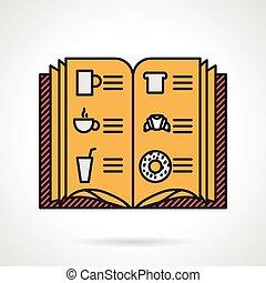 Cafe menu flat vector icon - Flat color design vector icon...