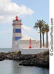 Santa Marta Lighthouse in Cascais, Portugal