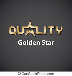 vector quality golden star