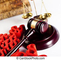 Paragraph of judge, law book justice concept