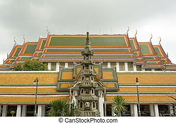 Wat Suthat Thep Wararam is a Buddhist temple in Bangkok,...