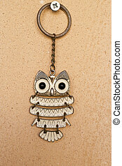 key ring - owl pendant key ring with large eyes and ears