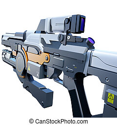 Sci-fi railgun - Scientific fiction model of an assault...