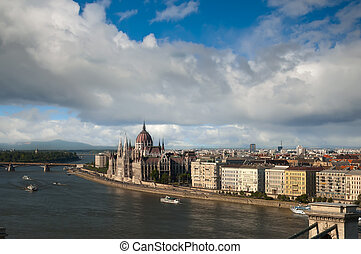 Budapest view from Gellert hill, Hungary - Budapest view...