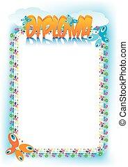 Diploma for Children - Diploma or frame for kids, girls,...