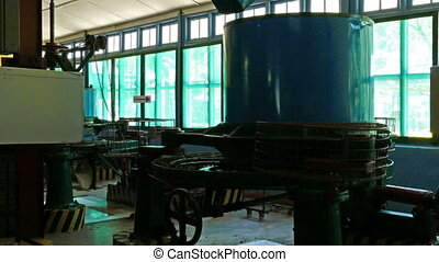 machines work on a tea factory