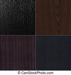 Set most popular dark wooden texture. High detailed images