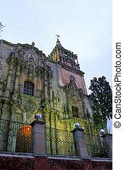 Church- Guanajuato, Mexico - Exterior of the Templo de San...