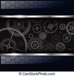 Abstract background with technology machine gears, vector...