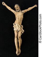 Old Crucifix on Velvet