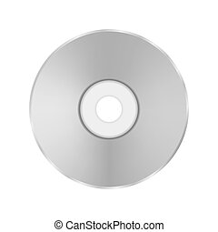 Grey Compact Disc Isolated on White Background