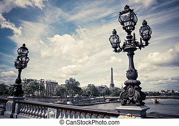 Pont Alexandre III in Paris France.