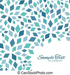 Vector blue mosaic texture frame corner pattern background