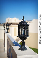 Set of street lantern in old style Architectural element