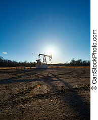 Oil rig in the field