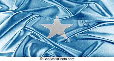 Somalia Flag. Flag with a beautiful glossy silk texture.