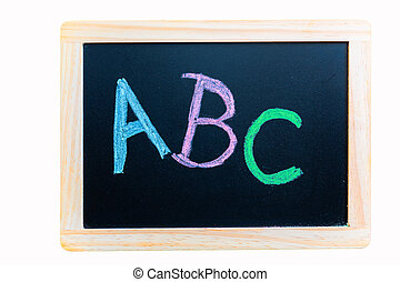 illiteracy - painting of the letters abc on a chalkboard