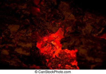 Brasas, queimadura