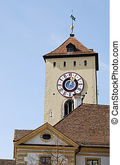 Regensburg - Tower of the city house in Regensburg....