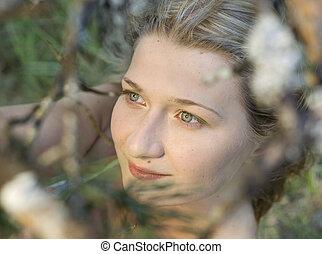 Beautiful dreamy girl in the meadow - Beatiful dreamy girl...