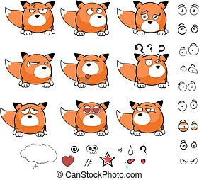 fox baby ball cartoon expressions1 - fox baby ball cartoon...