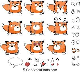 fox baby ball cartoon expressions1 - fox baby ball cartoon...