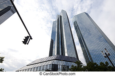 Corporate buildings in perspective, natural colorful tone