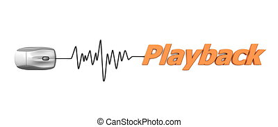Word Playback with Mouse � Orange - grey computer mouse...