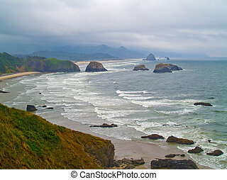 Oregon Coast from Ecola State Park - View of the Oregon...