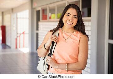 Happy Latin college student
