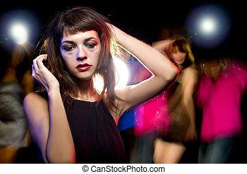 bêbado, ou, alto, em, Um, danceteria,