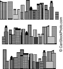 Abstract Skyline City. Vector