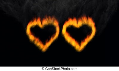 Two stars of the burning heart and