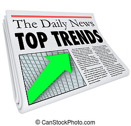 Top Trends Newspaper Headline Story Article Report Popular...