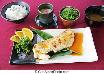 Grill Black cod japanese style