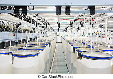 combed cotton production workshop in the ZeAo spinning LTD.,...