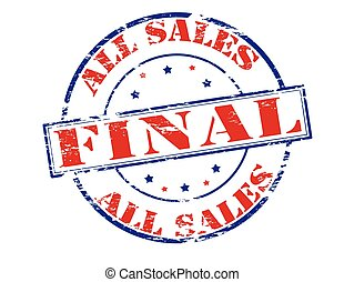 All sales final - Rubber stamp with text all sales final...