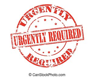 Urgently required