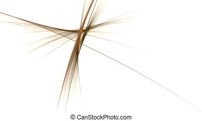 Flowing Energy, Dynamic Linear Gold - abstract golden motion...