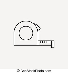 Measuring tape line icon
