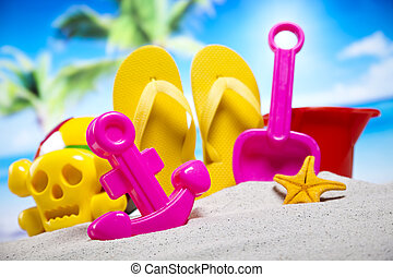 Toys for the beach, vacation