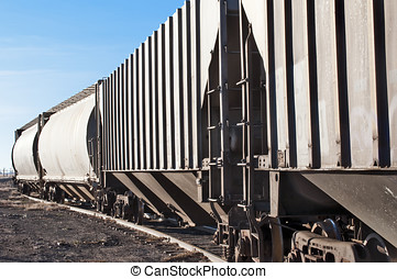 Empty railcars sitting on a rail siding - Empty railcars...