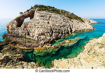 Zakynthos - Beautiful sea landscapes on Zakynthos Island in...