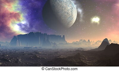 Nebula, the moon and the Alien Plan